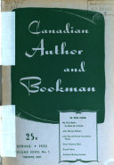 Canadian Author and Bookman and Canadian Poetry