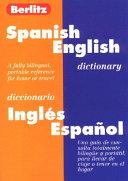 Berlitz Spanish English Dictionary Diccionario Engles Expanol