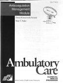 Ambulatory Care Clinical Skills Program Book PDF