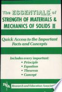 Strength of Materials Mechanics of Solids II Essentials