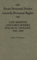 From Personal Duties Towards Personal Rights