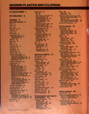 Modern Plastics Encyclopedia Book