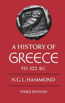 A History of Greece to 322 B C