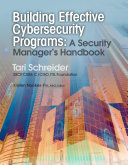 Building Effective Cybersecurity Programs Book