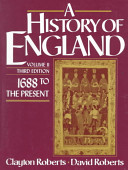 A History of England  1688 to the present
