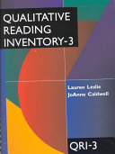 Qualitative Reading Inventory 3 PDF