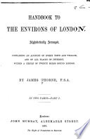 Handbook to the Environs of London Book