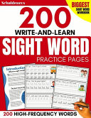200 Write And Learn Sight Word Practice Pages