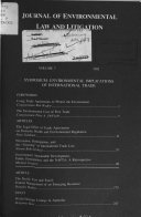 Pdf Journal of Environmental Law and Litigation