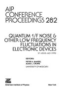 Quantum 1 F Noise   Other Low Frequency Fluctuations in Electronic Devices