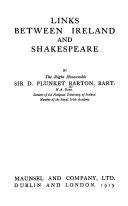 Links between Ireland and Shakespeare Pdf/ePub eBook