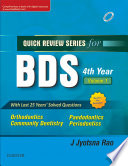 """Qrs for Bds IV Year, Vol 1E Book"" by Jyotsna Rao"