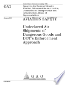 Aviation safety undeclared air shipments of dangerous goods and DOT s enforcement approach   report to the ranking minority member  Subcommittee on Aviation  Committee on Transportation and Infrastructure  House of Representatives