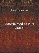 Materia Medica Pura Pdf/ePub eBook