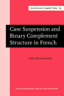 Pdf Case Suspension and Binary Complement Structure in French Telecharger