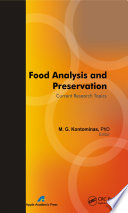 Food Analysis and Preservation Book