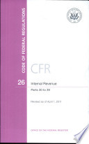 Code Of Federal Regulations Title 26 Internal Revenue Pt 30 39 Revised As Of April 1 2011