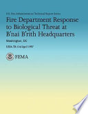 Fire Department Response To Biological Threat At B Nai B Rith Headquarters Washington Dc Book PDF