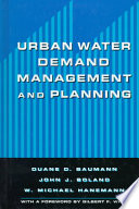 Urban Water Demand Management and Planning