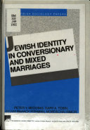 Jewish Identity in Conversionary and Mixed Marriages
