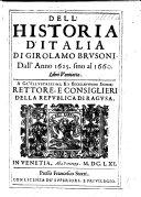 Pdf Dell'istoria d'Italia ... Dall'anno 1625. sino al 1660. Libri ventiotto, etc