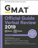 GMAT Official Guide 2019 Verbal Review  Book   Online  African Version