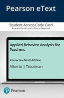 Applied Behavior Analysis for Teachers Enhanced Pearson Etext Access Card