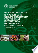 How Sustainability is Addressed in Official Bioeconomy Strategies at International  National and Regional Levels Book