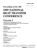 Proceedings of the     National Heat Transfer Conference