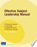 Effective Subject Leadership Manual
