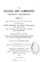 The Oxford and Cambridge German grammar
