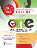The 2017 General Assembly Program & Business Docket