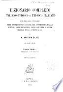 Dizionario completo italiano-tedesco e tedesco-italiano ...