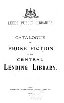 Catalogue of Prose Fiction in the Central Lending Library
