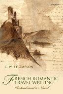 French Romantic Travel Writing