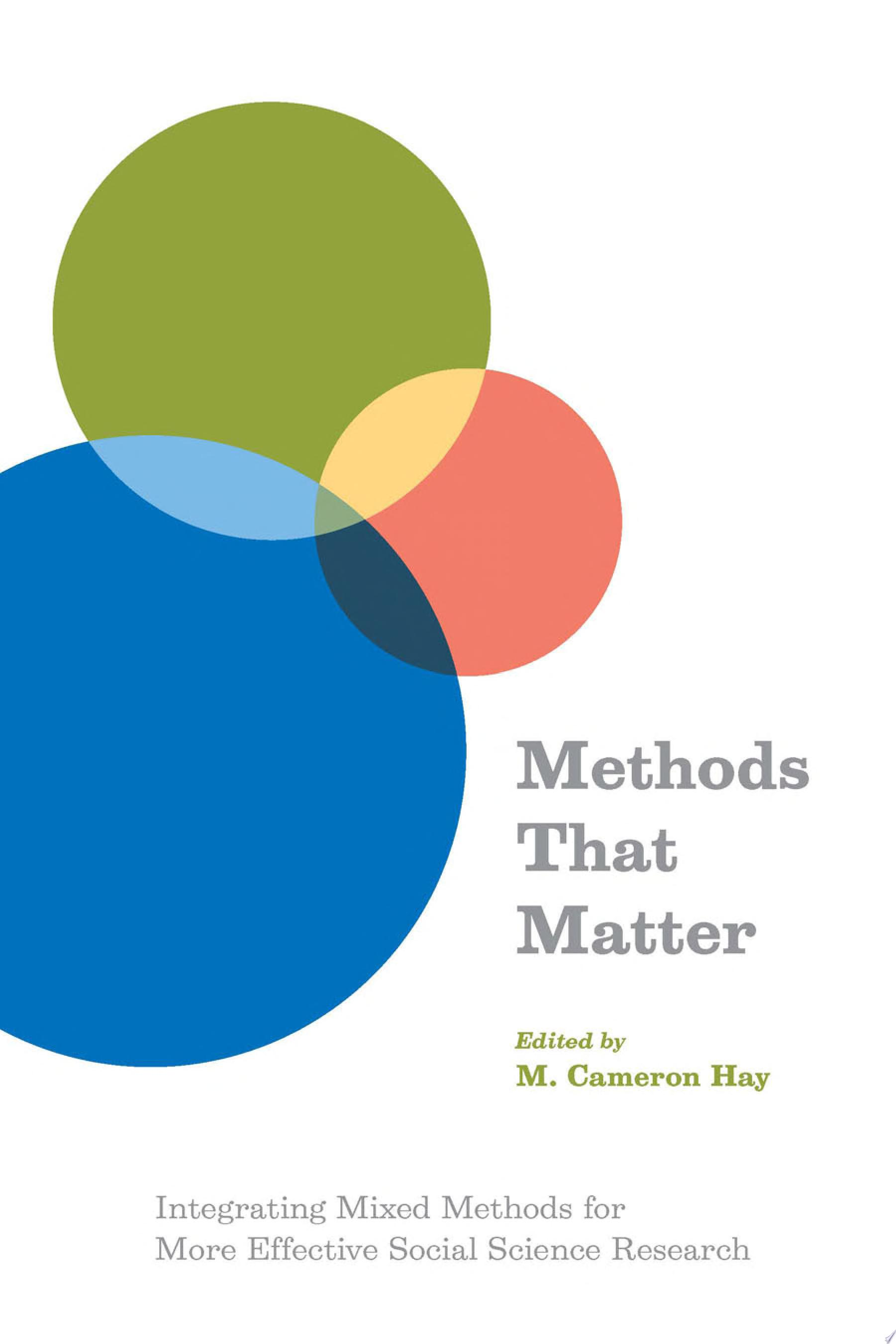 Methods That Matter