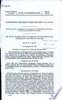 Wastewater Treatment Works Security Act of 2003