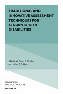 Pdf Traditional and Innovative Assessment Techniques for Students with Disabilities Telecharger