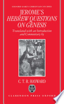 Saint Jerome S Hebrew Questions On Genesis