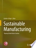 Sustainable Manufacturing Book