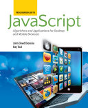Programming with JavaScript  Algorithms and Applications for Desktop and Mobile Browsers