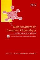 Nomenclature of Inorganic Chemistry
