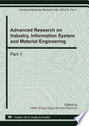 Advanced Research on Industry  Information System and Material Engineering  IISME2011 Book
