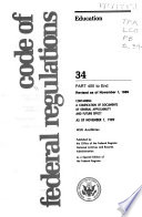 The Code of Federal Regulations of the United States of America Book PDF
