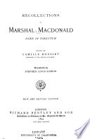 Recollections of Marshal Macdonald, Duke of Tarentum