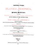 The Genuine Works of Flavius Josephus  the Jewish Historian