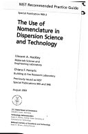 The Use of Nomenclature in Dispersion Science and Technology
