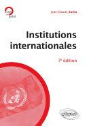 Pdf Institutions internationales - 7e édition Telecharger