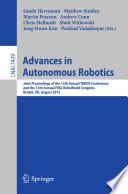 Advances in Autonomous Robotics Book