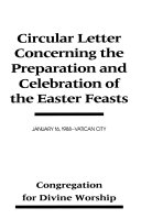 Circular Letter Concerning the Preparation and Celebration of the Easter Feasts